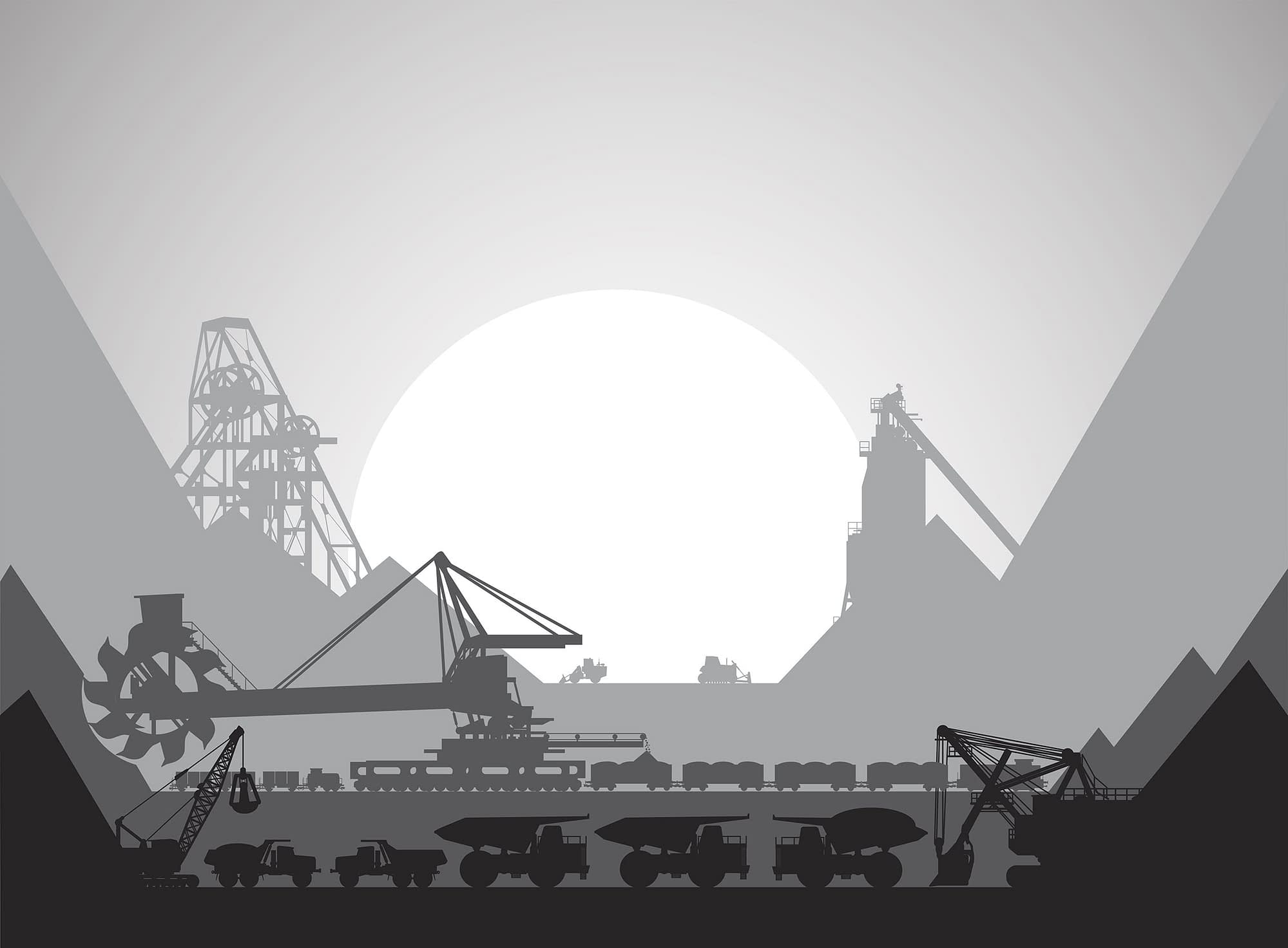 Mining complex for the development of minerals